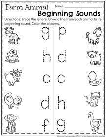 Farm animals writing worksheet and activities for
