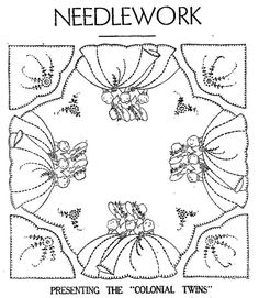 1000+ images about Redwork-Vintage Ladies on Pinterest