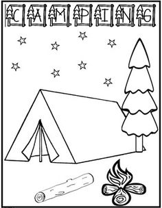 Free Kids Printable Activities: Easy Camping Word Search