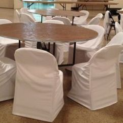 Metal Chair Covers With Accessories Ivory Folding Cover Polyester Products Satin And Look What Happens To An Ugly When You It