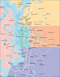 Washington map States Ive Visited Pinterest