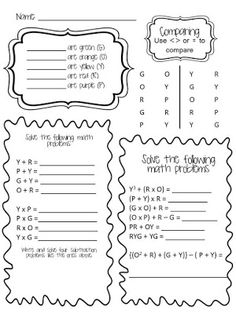 Order of operations, Spring break and Spring on Pinterest