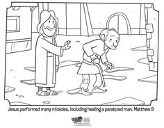 Kids coloring page from What's in the Bible? showing Paul