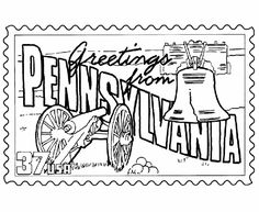 Pennsylvania pattern. Use the printable outline for crafts