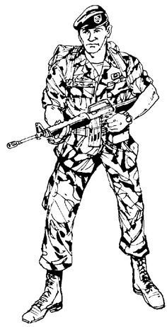 Beautiful American Soldiers Memorial Day Coloring Pages