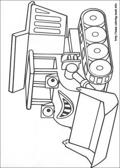Printable tractor coloring page. Free PDF download at http