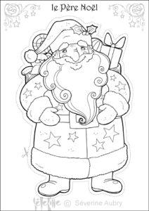 Dessin à colorier de chants de Noël, la couverture du
