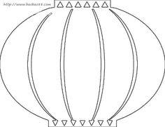 Download Halloween Paper Lantern Templates free