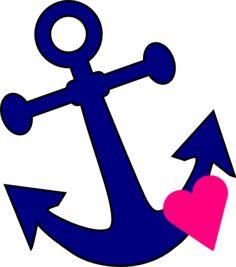 free pink anchor clip art nautical