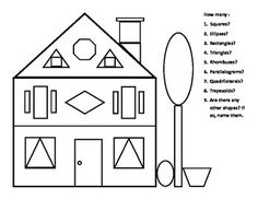 Worksheets, Different shapes and First grade math