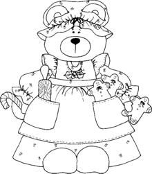 1000+ images about Coloring pages: Teddy Bears on