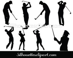 black & white golf clipart images, old-fashioned sports