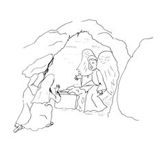Nicodemus and his friend Joseph place Yeshua (Jesus) into
