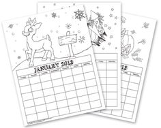 Let it Snow Coloring Page! Just print then colors. See