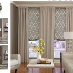 YES! This Is What I Want!!! Sheer Curtains With Roman Shade