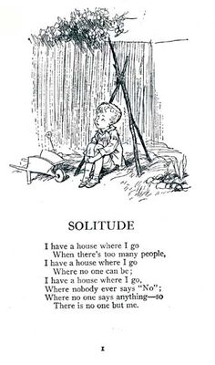 From Spring Morning poem by A. A. Milne with illustration