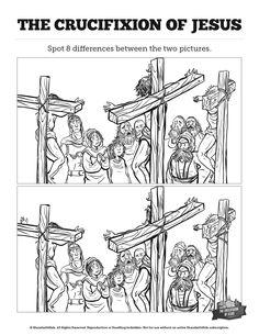 Jesus' Crucifixion Sunday School Crossword Puzzles: A