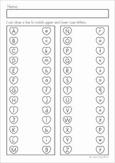 FREE Valentine Turtles upper and lower case match with