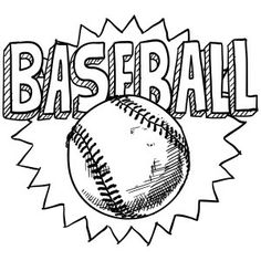 1000+ images about Baseball coloring pages on Pinterest