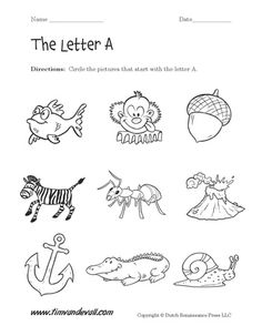 Letter F Worksheet for Preschool: Circle the Objects that
