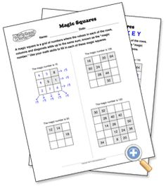 Here's a series of pages where students find the missing