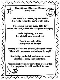 Moon phases and Assessment on Pinterest