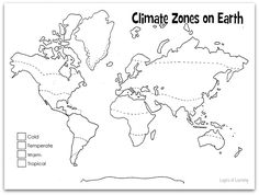 Print and color this climate zones of Earth map. This is