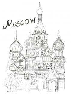 Free adult coloring page of the Saint Basil's Cathedral