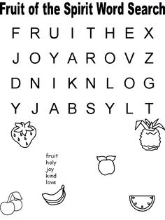 Free Fruit of the Spirit Printables for toddlers