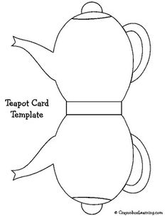 Printable Mothers Day Teapot Card Template Mother Day
