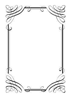 Printable art deco border. Free GIF, JPG, PDF, and PNG