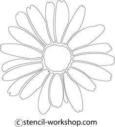 Stencils, Large wall stencil and Flower stencils on Pinterest