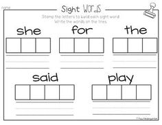1000+ images about Sight Word Practice on Pinterest