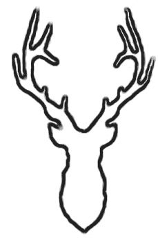 Deer Head Decal 44, Hunting Decals, Fishing Decals