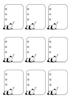 Free printable panda name tags. The template can also be