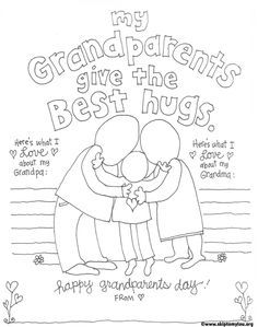 Grandparents day, Grandparents and Award certificates on