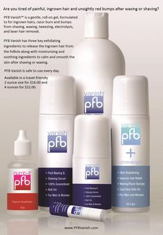 pfb vanish product info on pinterest ingrown hairs razor burns and shaving