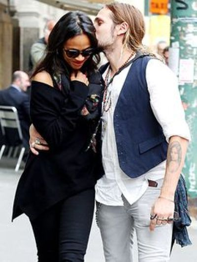 Image result for #ZoeSaldana gets tattoo of husband's face; find out where