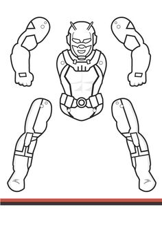 Superman puppet/jumping jack, to color, cut, assmbled
