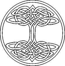 Free Celtic Vine Border Accent Clipart Illustration image