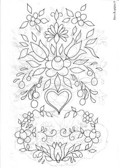 Abstract Flower Coloring Pagespin By Linda Sangiorgio On