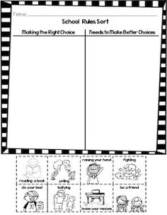 Copy, laminate and cut out enough behavior charts for each
