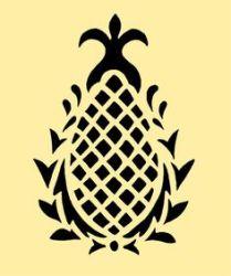 pineapple stencil stencils motif clip 10x8 vendido producto estencil