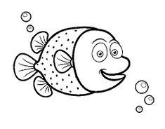 pez para colorear para colorear PULSAR SOBRE LA IMAGEN