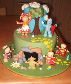 Pretty Homemade In The Night Garden Birthday Cake Idea Gardens