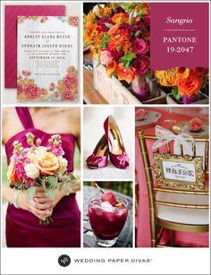 sangria wedding color | deweddingjpg.com
