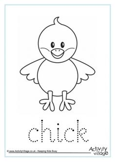 Spring baby chick Coloring Page Saad