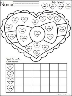 Free Valentine's Day graphing activity that is fun and