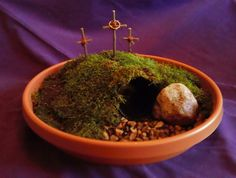 Instructions For Making An Easter Garden To Grow During Lent