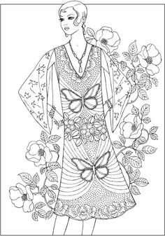 From: Fashions of the Roaring Twenties Coloring Book http